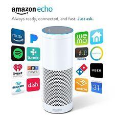 Amazon Echo w/ Alexa Voice Control Personal Assistant & Bluetooth Speaker, White