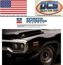 GTX 440 Engine Hood Callout Tag Insert Emblems 1968 Plymouth Roadrunner Pair