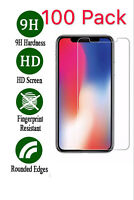 100x Wholesale Lot Tempered Glass Screen Protector for Apple iPhone 11 Pro Max