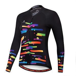Women's Cycling Jersey Clothing Bicycle Sportswear Long Sleeve Bike Shirt J63