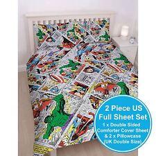 MARVEL COMICS RETRO 2 PIECE UK DOUBLE / US FULL SHEET SET OFFICIAL NEW