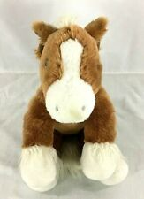 Build A Bear Workshop Horse Plush Brown and White Stuffed Animal Babw Pony