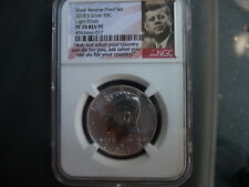 2018 s silver reverse proof Kennedy half dollar NGC PF 70 light finish