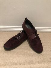 CAMPER Men's Burgundy Suede Leather Lace Up Shoes Size 46 / 12