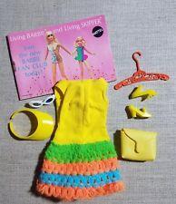 Vintage Barbie Mod #1454 Loop Scoop Dress, Shoes, Purse, Visor, Glasses, Hangar