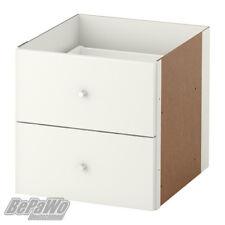 IKEA KALLAX Einsatz mit 2 Schubladen Hochglanz weiß 33x33 Expedit Kallax Regal