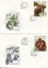 Czech Rep 2018 FDC Zoos III 4v on 4 Covers Elephants Bears Wild Animals Stamps