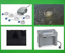 50W Solar Teichbelüfter Akku Teichbelüftung Sauerstoff Pumpe Gartenteich Teich *