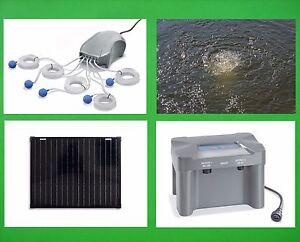 50W Solaire Aérateur pour Étang Batterie D' Oxygène Pompe de Jardin