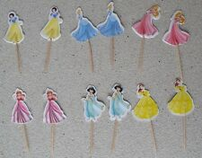 Disney Princess Cupcake toppers 12 pieces for birthday cake or party decoration