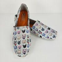 Skechers Bobs Plush Posh Cat Flats Shoes Gray Sz 10 Memory Foam Slip Ons Womens