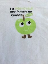 French Day Of Week Wednesday A Granny Apple Baby One Piece 2 Years Old