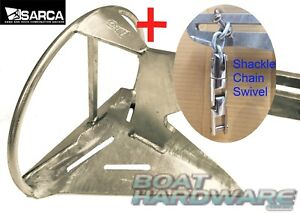 Anchor & 3 Way SS Swivel & Shackle KIT Genuine Super Sarca No2 Suits 4.5-6m Boat