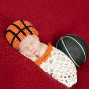 Knitted Basketball & Net Newborn Props For Photography Infant Photo Props Studio