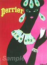 Vintage Perrier Publicidad A4 cartel impresión