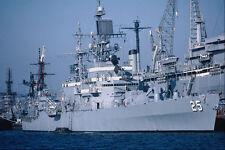 795018 USS Bainbridge Nuclear Powered Cruiser San Diego California USA A4 Photo