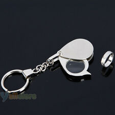 Pocket 15X Magnifier Portable Jewelry Magnifying Eye Loupe Glass Lens Keychain