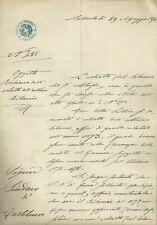 Ufficio Registro di Sassuolo Richiamo Bilancio al Sindaco di Castelnuovo 1874