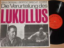 Paul Dessau/Bertold Brecht-condanna del lukullus-LP phonoclub eterna DDR