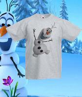 Frozen Olaf elsa Disney T-Shirt Tee Kids Princess Girls/Boys Ages 1 -13 New