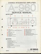 Orig Factory Yamaha A-960 HIFI Stereo Verstärker Amp Service Manual