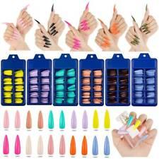 100* Long Stiletto Nail Tips Full Cover False Fake Acrylic Nail Art Manicure