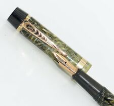 VINTAGE 1930s WORKING TRANSLUCENT STRIATED PATTERN ONOTO FOUNTAIN PEN 14CT NIB