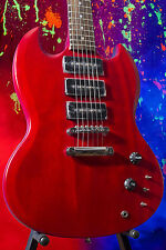 Fool Audio Research Troika - Transparent Red - Tune-O-Matic/3 x P-90