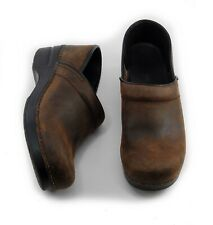 Dansko Professional Clogs Brown Oiled Leather Womens Size 39 Narrow