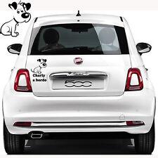 adesivo adesivi stickers nome cane a bordo on board dog zampe zampette  a0148