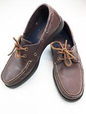 Ralph Lauren Polo Sport Men's Brown Leather Boat Shoes Size 10