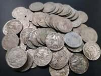 Lote 5 monedas 25 céntimos 1925 carabela Alfonso XIII España XF- VG- Spain coin
