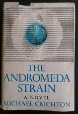 The Andromeda Strain by Michael Crichton (1969, Hardcover w/ Dust Jacket)