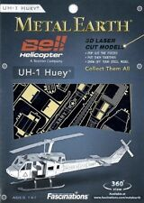 Huey UH-1 Bell Helicopter Metal Earth 3D Model Kit FASCINATIONS