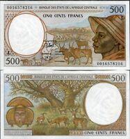 CENTRAL AFRICAN STATE CAS GABON 500 FRANCS 2000 P 401 Lg UNC