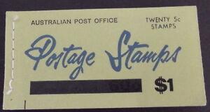 1966 AUSTRALIA - $1.00 20 x 5c O/P QE11 BOOKLET - COMPLETE - MNH