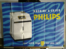 AFFICHE ANCIENNE PUBLICITE MACHINE A LAVER PHILIPS GUY GEORGET