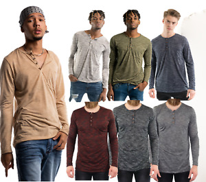 LeaLac Men/'s Casual Short Sleeve Jersey Slim Fit Plain Pleated Pullover Curved Hem T Shirt