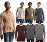 Men's Soft Slim Fit Henley T-shirt Tops Long Sleeve Casual Button Down Shirts