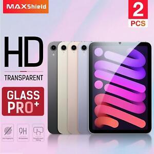 """2X MAXSHIELD Fr Apple iPad Mini 6 8.3"""" 2021 Full Tempered Glass Screen Protector"""