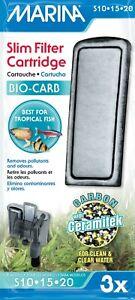 Marina Fish Tank S10 S15 S20 Power Slim Filter Cartridge Bio-Carb 3pk A291