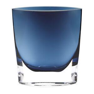 "Badash Crystal Midnight Blue Samantha European Mouth Blown 8"" Pocket Vase"