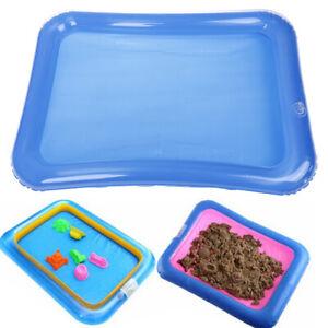 1Pc Blue inflatable indoor kids play sandbox sand tray children toys 60*45cm P-