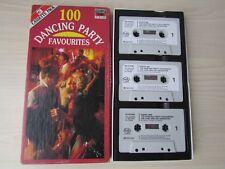 100 DANCING PARTY FAVORITES [JOE LOSS] 3 X CASSETTE TAPE SET, 1985 MFP, TESTED.