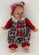 "Gotz Clown Girl 17.5"" Doll - Blue Eyes Red Orange Hair"