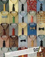 Publicité advertising 1980 Pret à porter vetements chemises Play Boy