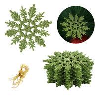 12X Christmas Snowflake Ornament Xmas Tree Haning Holiday Party Home Decor DIY