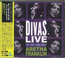 ARETHA FRANKLIN-DIVAS LIVE THE ONE AND ONLY-IMPORT CD+DVD WITH JAPAN OBI H66