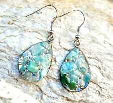 "Orgone drop earrings ""Sophia"", Amazonite, stones and crystals, reiki Chakra"