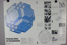 Plastisches Bauen mit Serienelementen MERO Max Mengeringhausen Plakat 1968 Archi